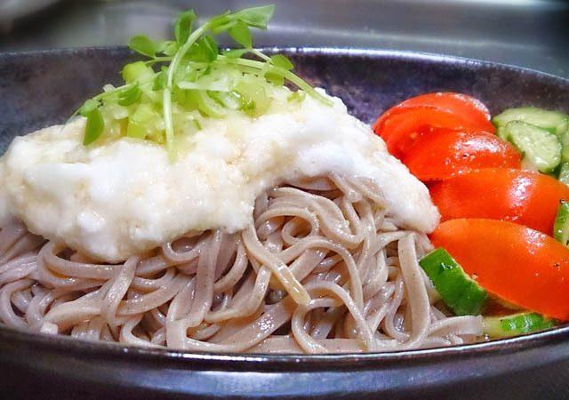蕎麦とトマトときゅうり 7