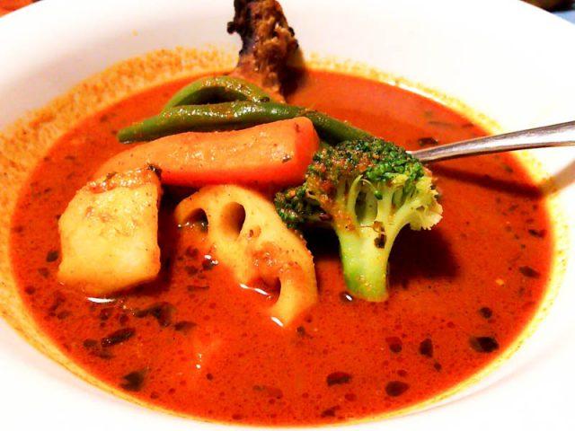 北区人気のカレー店「ラム」でスープカリー 12