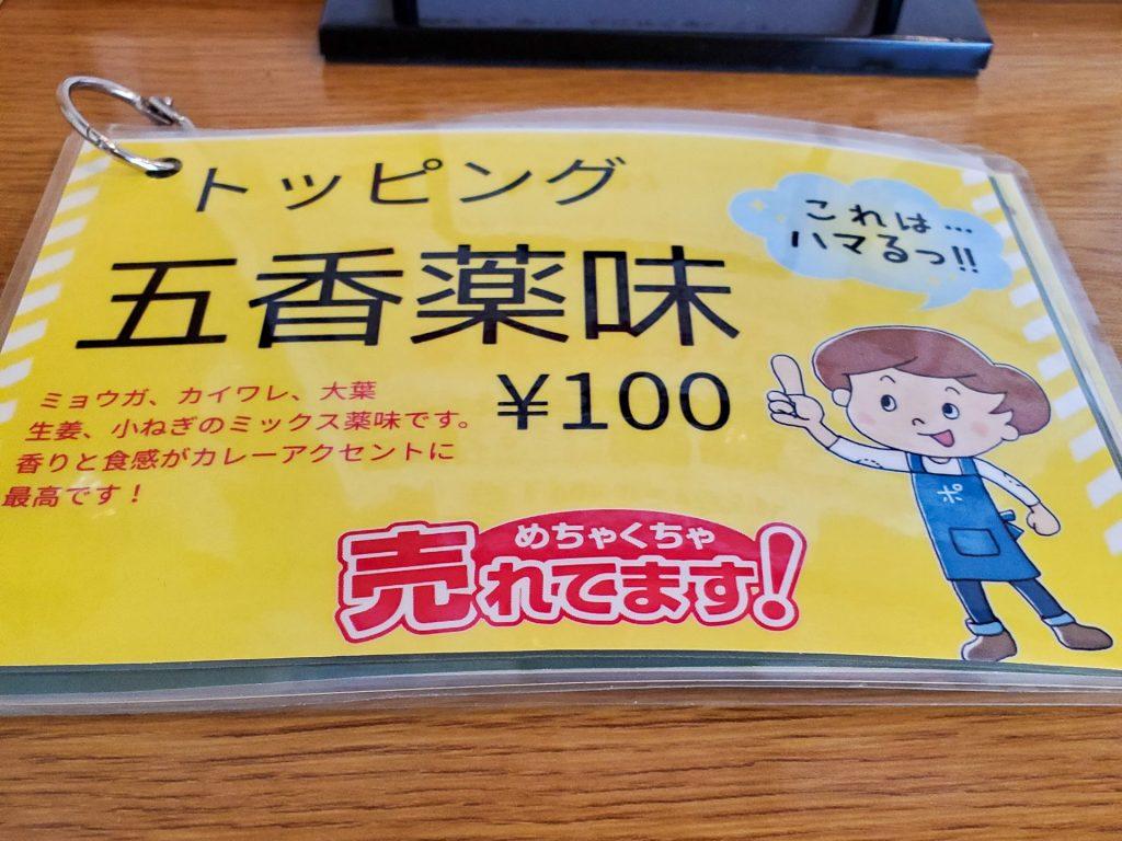 「スープカレー店 34 (THIRTY FOUR)」スープカレーに最高のトッピング有り! その五香薬味って? 4