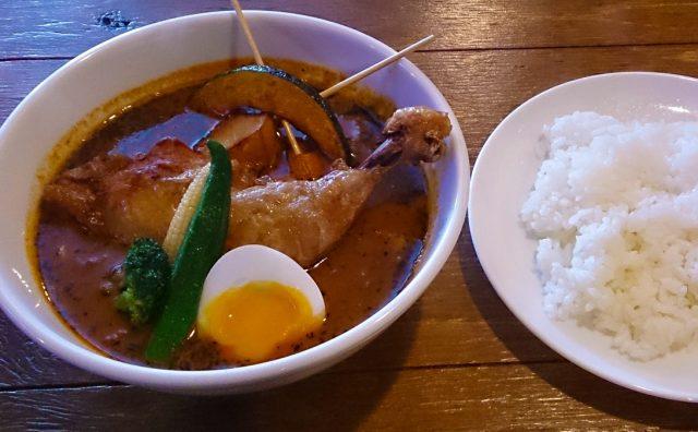 【閉店】澄川でチキンスープカレーを 10