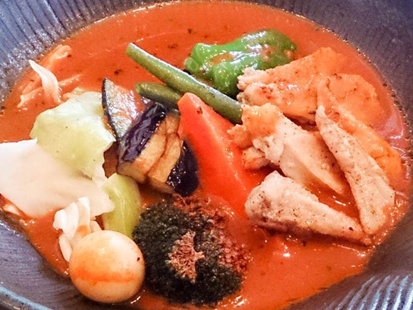 札幌市豊平区のlavi 平岸店でスープカレー 2