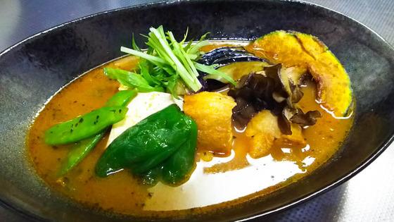 豆腐と生揚げのスープカレーを作る 3