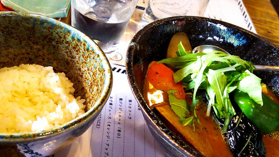 最近開店した「スープカリー 藍色」でチキンのスープカレー 4