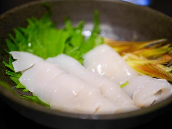 北海道で釣ったマイカを食す 2