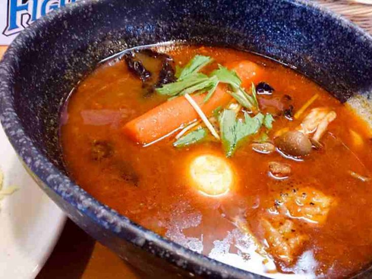 カレー気分で大盛りスープ 10