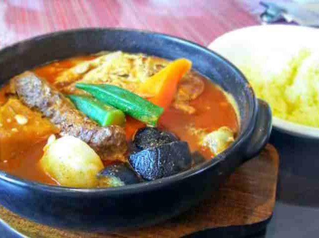 天竺本店でスープカレー 11