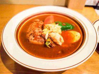 「スープカレー店 34 (THIRTY FOUR)」スープカレーに最高のトッピング有り! その五香薬味って? 2